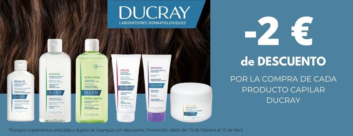 DUCRAY / Productos Capilares 2€ DESCUENTO