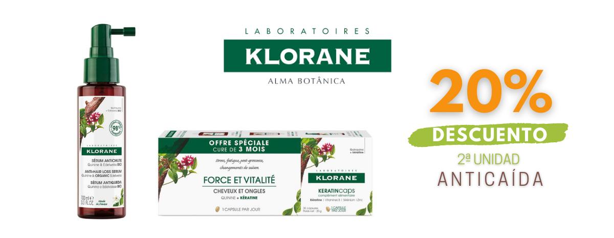 KLORANE / Anticaída 20% DESCUENTO 2ª unidad