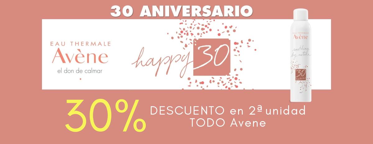 AVENE / HAPPY 30 Descuento 30% en 2ª ud