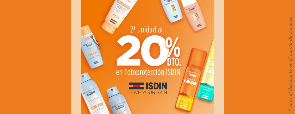 ISDIN / Solares Todos 20% DESCUENTO 2ª ud MY SUMMER