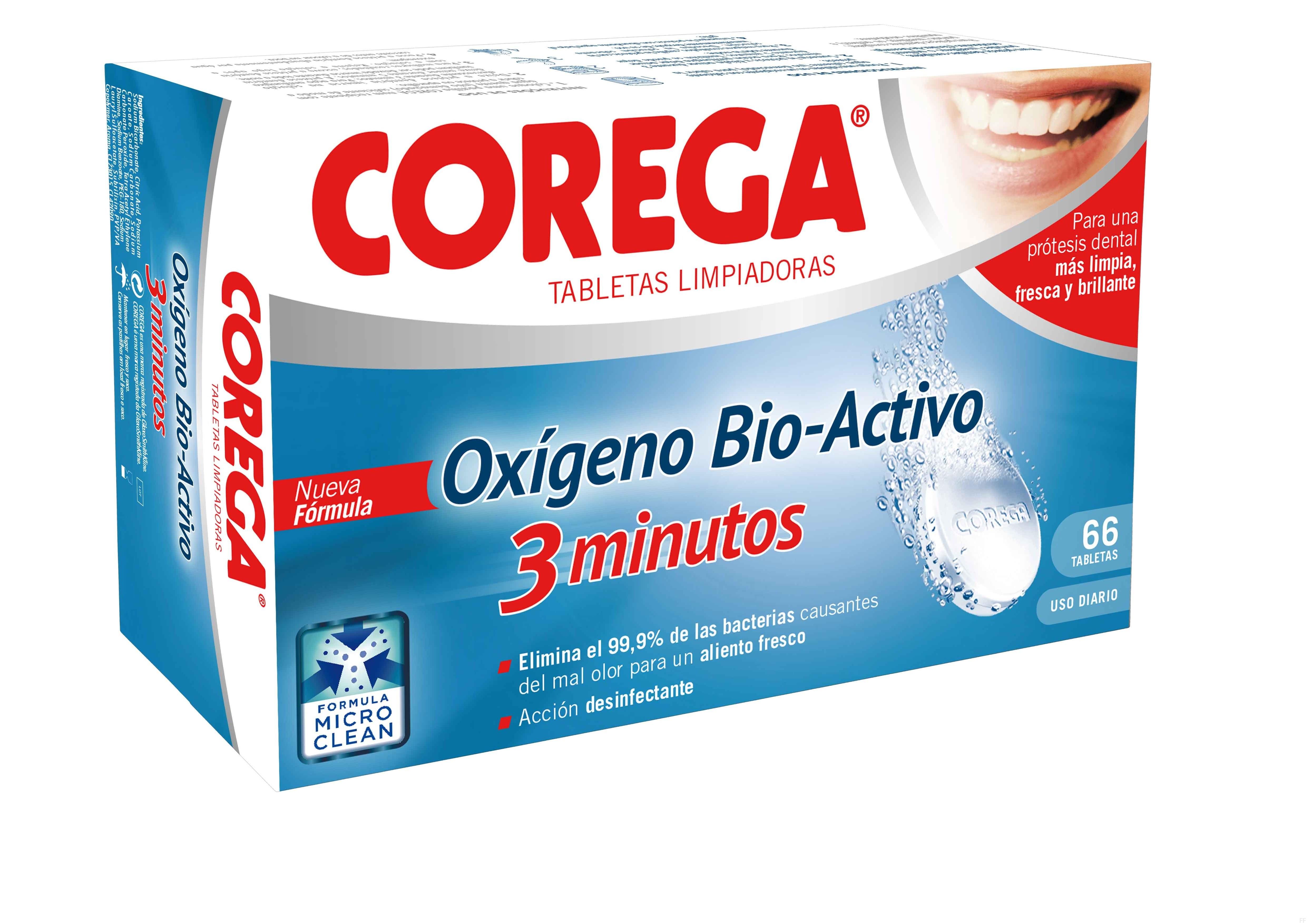 Corega Oxigeno-Bio activo 66 Tabletas