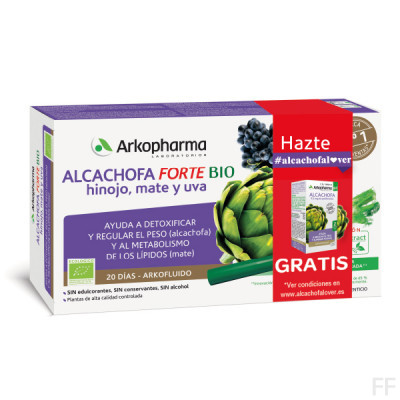 Arkofluido Alcachofa Forte Bio 20 ampollas / Arkopharma