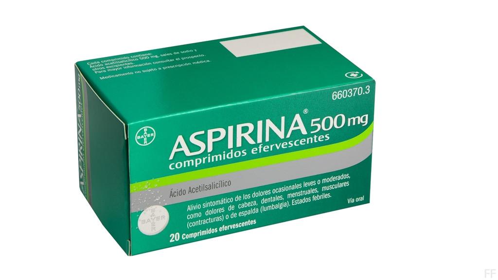 ASPIRINA (500 MG 20 COMPRIMIDOS EFERVESCENTES )