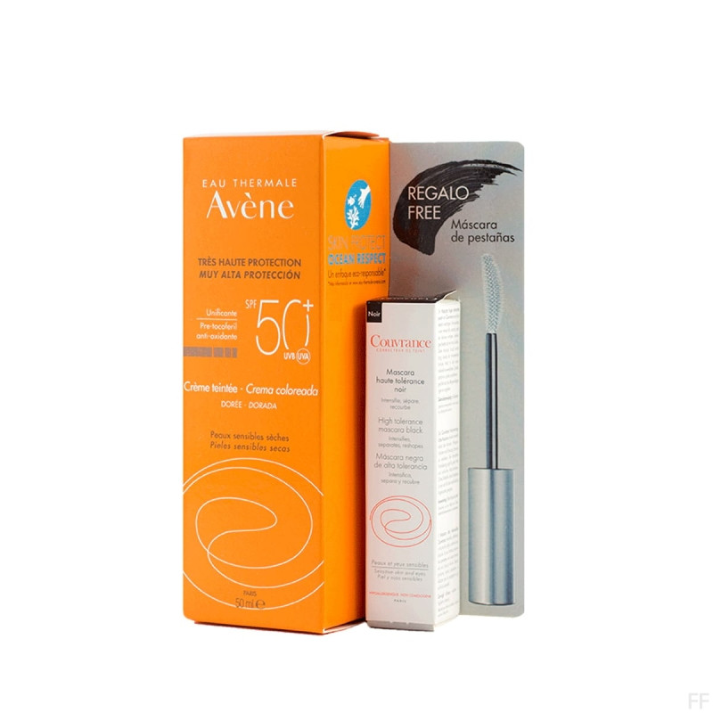 Avene Crema coloreada SPF50+ + REGALO Máscara de pestañas