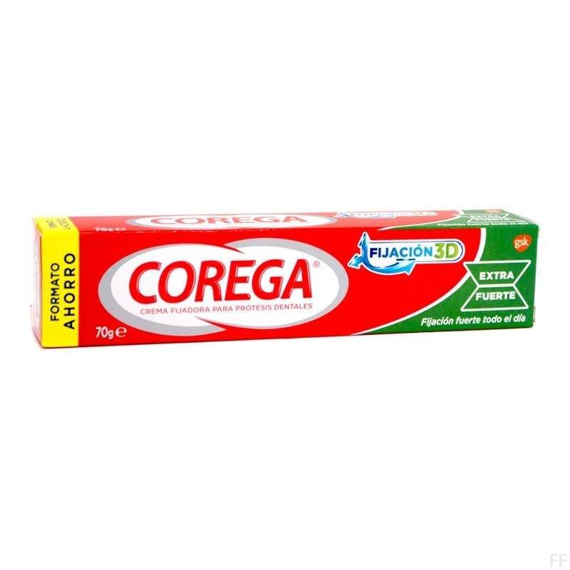 Corega Extra Fuerte Crema Fijadora Para Prótesis Dentales 70 g