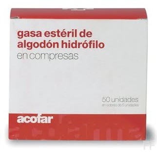 Acofar Gasa Estéril de Algodón Hidrófilo - 50 ud