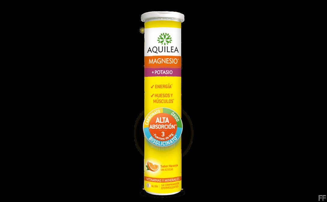 Aquilea Magnesio + Potasio Sabor Naranja 14 comprimidos efervescentes
