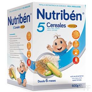 Nutribén 5 Cereales Fibra 600 g.