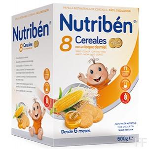 Nutriben 8 Cereales Miel Galleta Maria