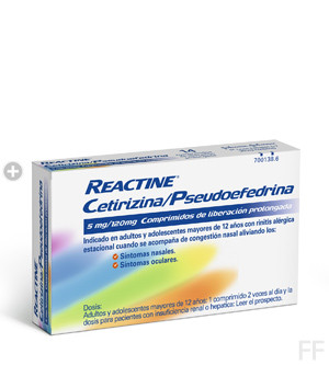 Reactine comprimidos