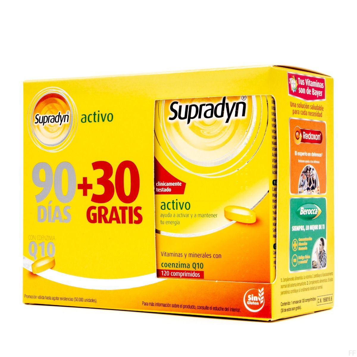 Supradyn Activo 90 comprimidos + GRATIS 30 comprimidos