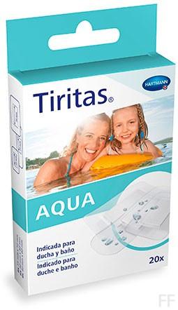 Tiritas Aqua - Hartmann (20 uds, 3 tamaños)