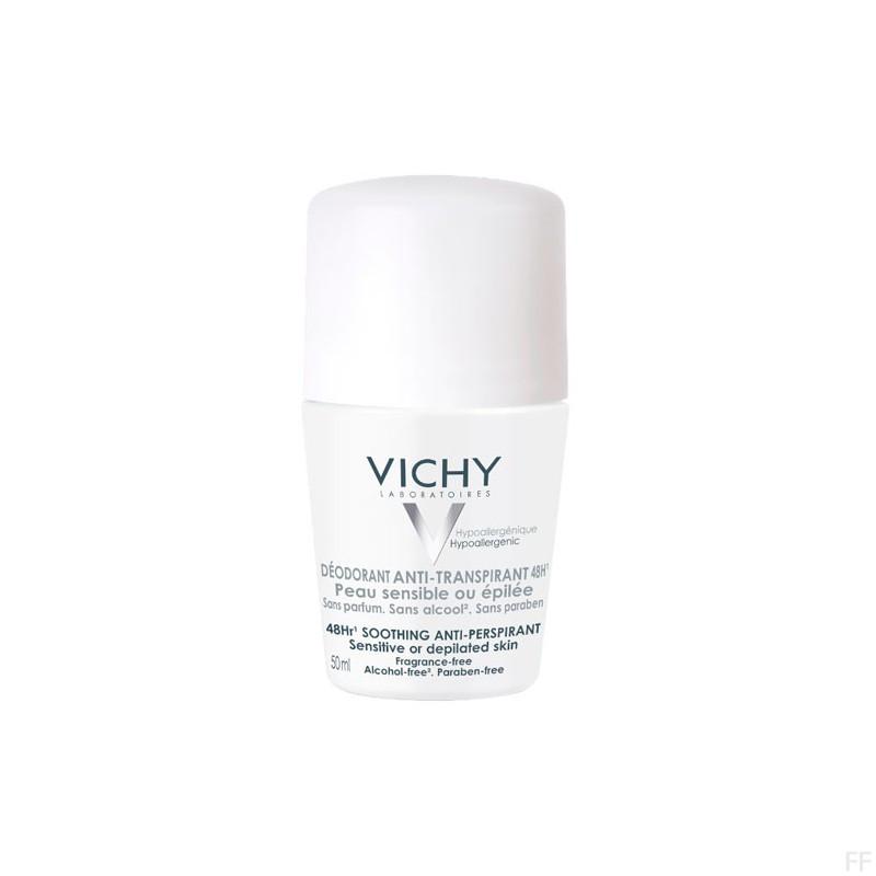 Vichy Desodorante Antitranspirante 48h Piel sensible o depilada 50 ml