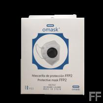 Mascarilla FFP2 Omask Negro 10 uds