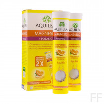 Aquilea Magnesio + Potasio 28 comprimidos efervescentes Sabor naranja