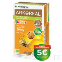 Arkoreal Jalea Real Junior 500 mg Sabor manzana y fresa 20 ampollas Arkopharma