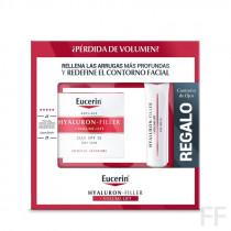 Eucerin Hyaluron-Filler + Volume Lift  Crema Día Piel Seca 50 ml + REGALO Contorno de Ojos