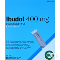 IBUDOL 400 MG SUSPENSION ORAL