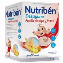 Nutriben Desayuno Papilla de Trigo y Frutas