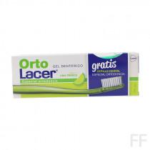 OrtoLacer Gel Dentífrico Lima fresca 75 ml + REGALO Cepillo ortodoncia