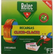 Relec Recargas Pulseras Click-Clack 2 ud
