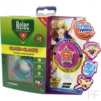 Relec Click Clack Pulsera antimosquitos + Stickers Supergirl