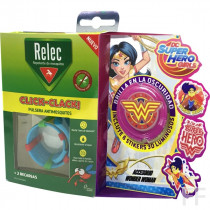 Relec Click Clack Pulsera antimosquitos + Stickers Wonder Woman