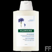 Klorane Champú con Centaurea Cabello blanco 400 ml