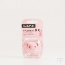 Suavinex Chupete Evolution Rosa Latex 0-6M 1 ud
