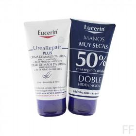 Duplo Eucerin Urea Repair Plus Crema de manos 5% Urea 2 x 75 ml