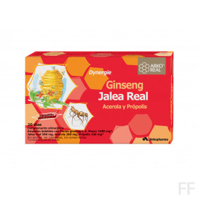 ARKOREAL JALEA REAL+GINSENG DYNERGIE 20 AMPOLLAS