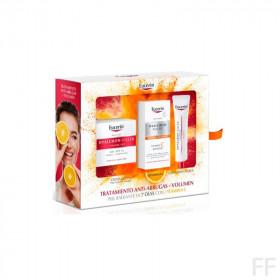 Cofre Eucerin Hyaluron Filler + Volume Lift Día Piel seca + Vit C + Contorno