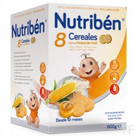 Nutriben 8 Cereales con Miel Galletas María 600 g
