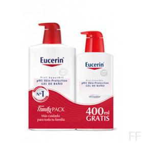 EUCERIN PACK GEL DE BAÑO 1 LITRO + 400 ML