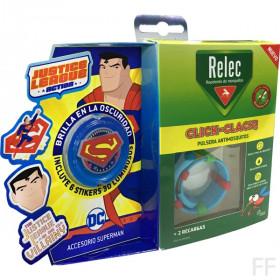 Relec Click Clack Pulsera antimosquitos + Stickers Superman