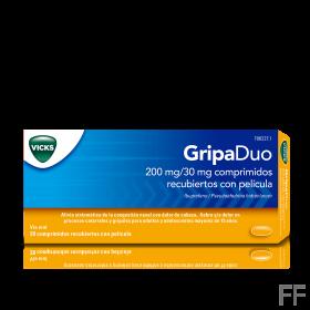 GRIPADUO 200/30 MG 20 COMPRIMIDOS RECUBIERTOS