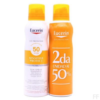 Duplo Eucerin Sun Spray Transparente Dry Touch Sensitive Protect SPF50