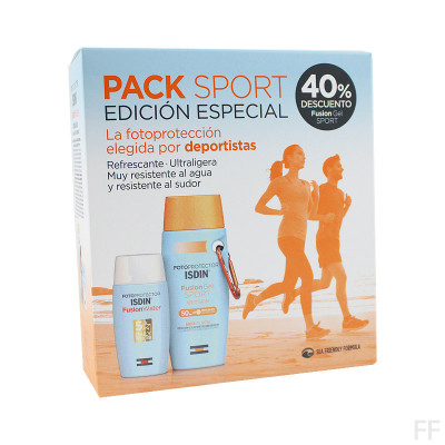 Pack Edición Especial Isdin Fusion Water SPF50+ 50 ml + Isdin Fusion Gel Sport SPF50+ 100 ml